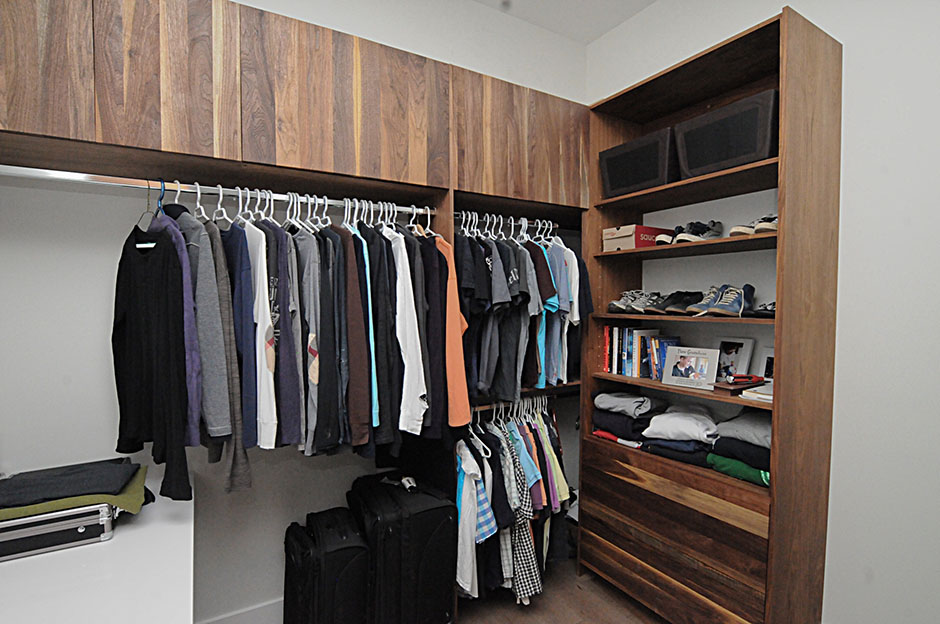 Built In Closets Exotic Wood
